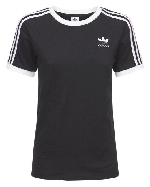 Adidas Originals 3 Stripes Tシャツ Black