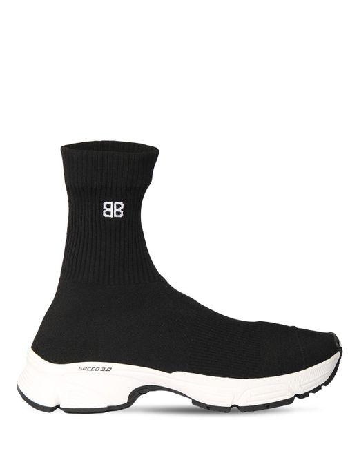 メンズ Balenciaga Speed 3.0 ニットスニーカー Black