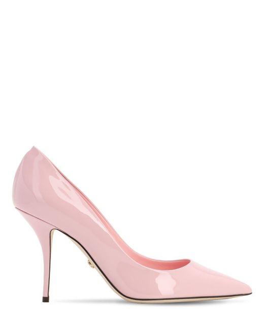 Dolce & Gabbana パテントレザーパンプス 90mm Pink