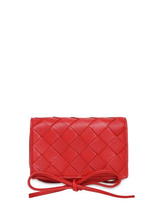 Мини-сумка Intrecciato Bottega Veneta, цвет: Red