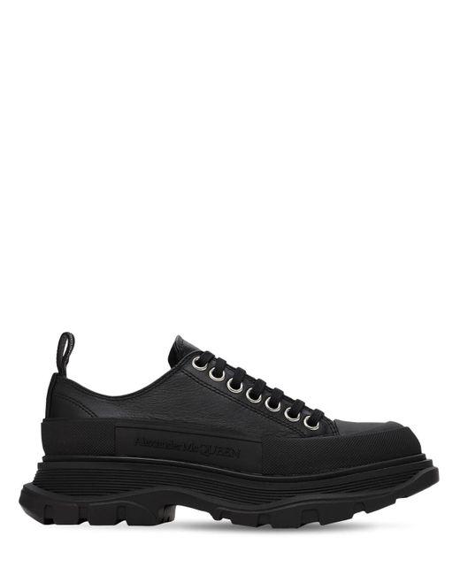 Кроссовки Из Кожи 45мм Alexander McQueen, цвет: Black