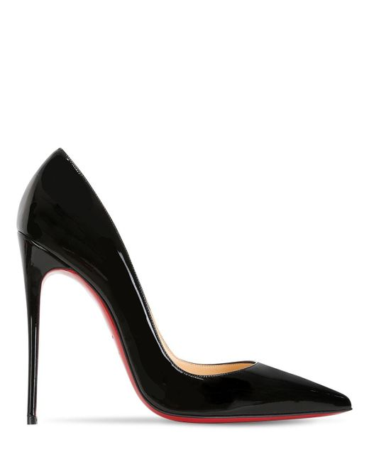 Christian Louboutin Black 120mm So Kate Patent Leather Pumps