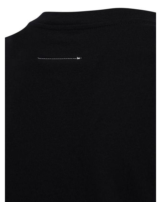 MM6 by Maison Martin Margiela オーバーサイズコットンジャージーtシャツ Black