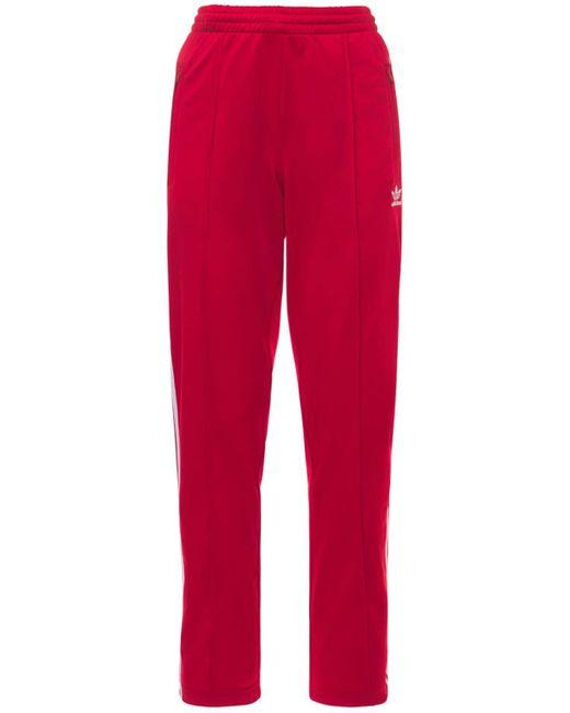 Adidas Originals 3 Stripes トラックパンツ Red