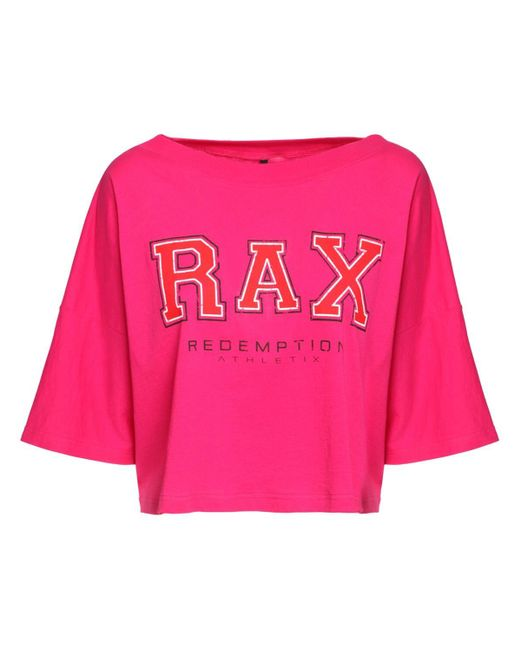 Redemption Athletix コットンジャージークロップtシャツ Pink
