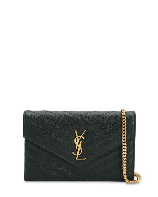 Saint Laurent Black Sm Monogram Quilted Leather Bag