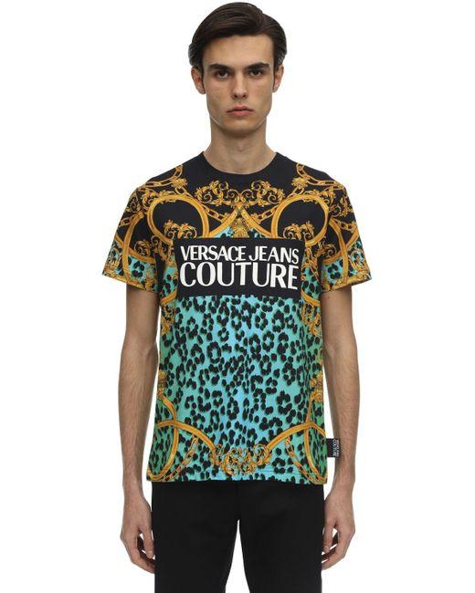 メンズ Versace Jeans ロゴプリントtシャツ Multicolor