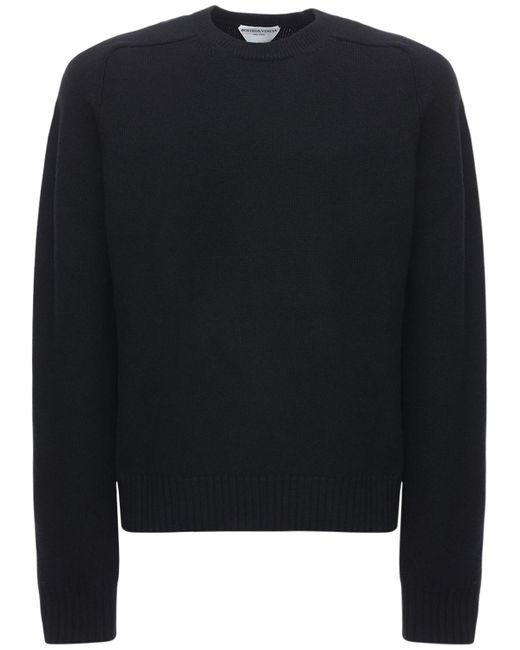 Свитер Из Шерстяного Трикотажа Bottega Veneta для него, цвет: Black