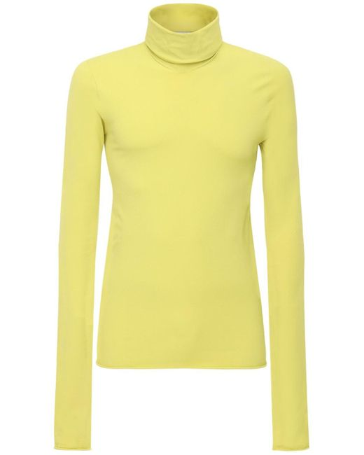 メンズ Bottega Veneta ニットタートルネックセーター Yellow
