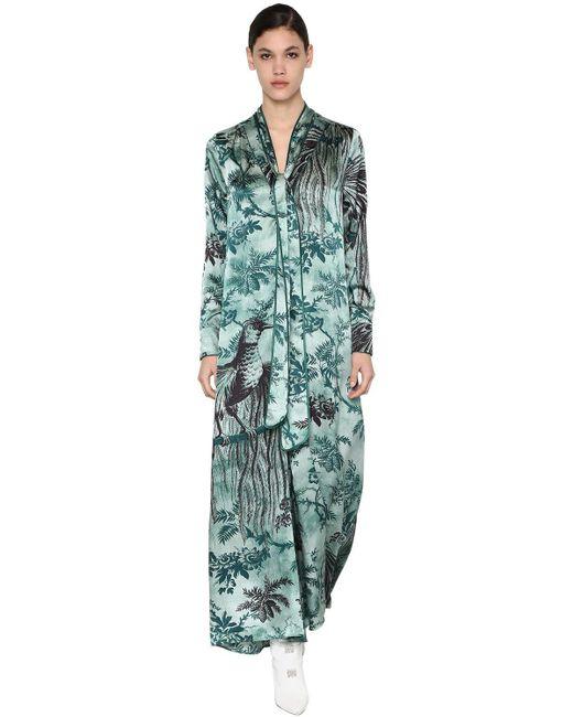 Платье Из Вискощы С Принтом F.R.S For Restless Sleepers, цвет: Blue