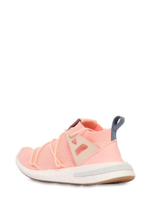 Adidas Originals Pink Arkin Primeknit Sneakers