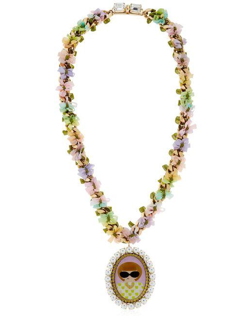 Bijoux De Famille | Metallic Anna Cameo Necklace | Lyst