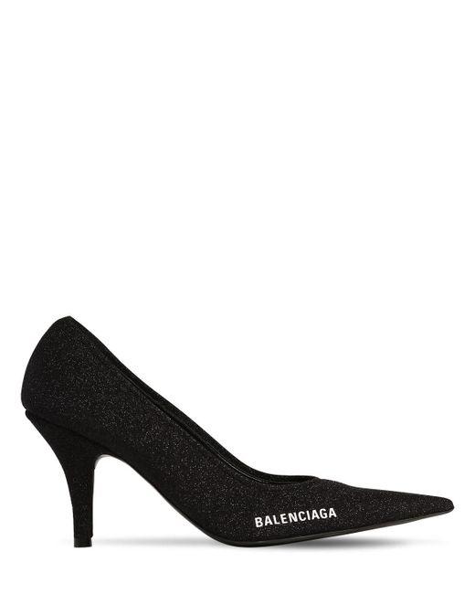 Туфли Из Трикотажа 80мм Balenciaga, цвет: Black