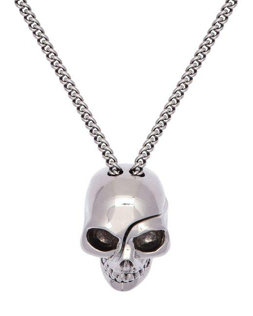 メンズ Alexander McQueen Skull チャームネックレス Metallic