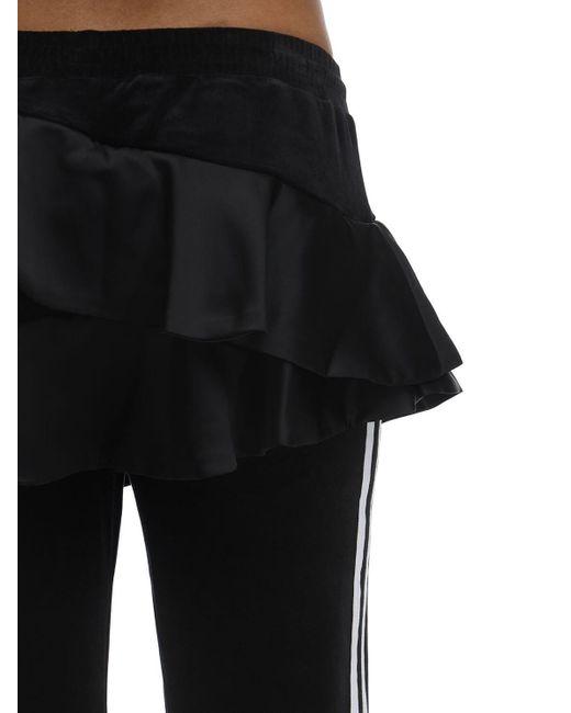 Adidas Originals フリルベルベットトラックパンツ Black