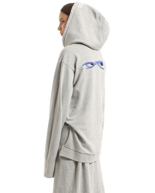 Hooded cotton-blend jersey sweatshirt dress VETEMENTS jnuEXQoUHw