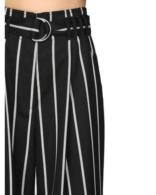 Брюки Из Шерстяной Саржи Proenza Schouler, цвет: Black