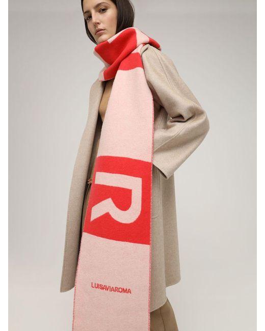 """Шарф Из Кашемира """"lvr Logo"""" LUISAVIAROMA, цвет: Red"""