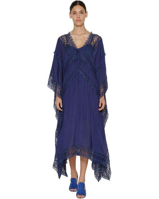 Платье Из Вискозного Шифона Self-Portrait, цвет: Blue