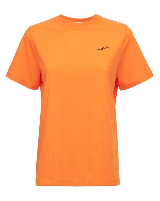 Coperni Classic Boxy コットンブレンドtシャツ Orange