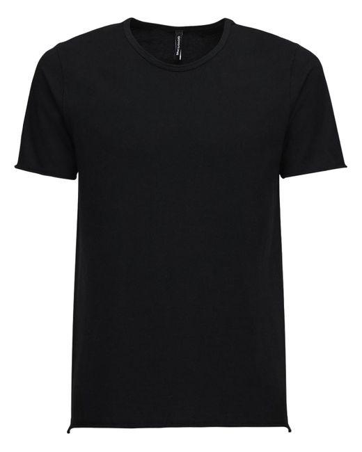 """Giorgio Brato T-shirt Aus Baumwolljersey """"uncut"""" in Black für Herren"""