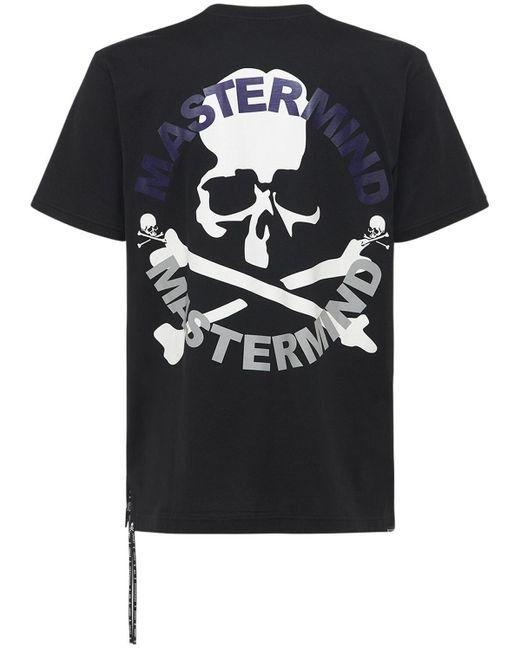 メンズ MASTERMIND WORLD Circle コットンtシャツ Black