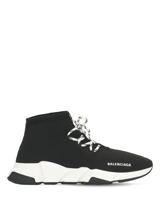 メンズ Balenciaga Speed テックスニーカー Black
