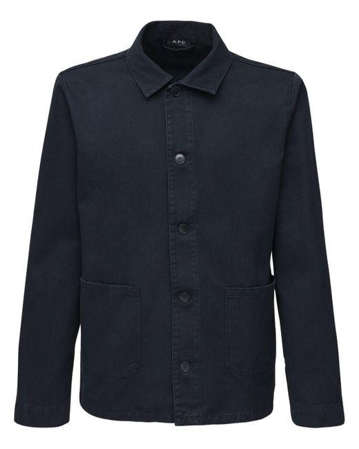 メンズ A.P.C. コットンワークジャケット Blue