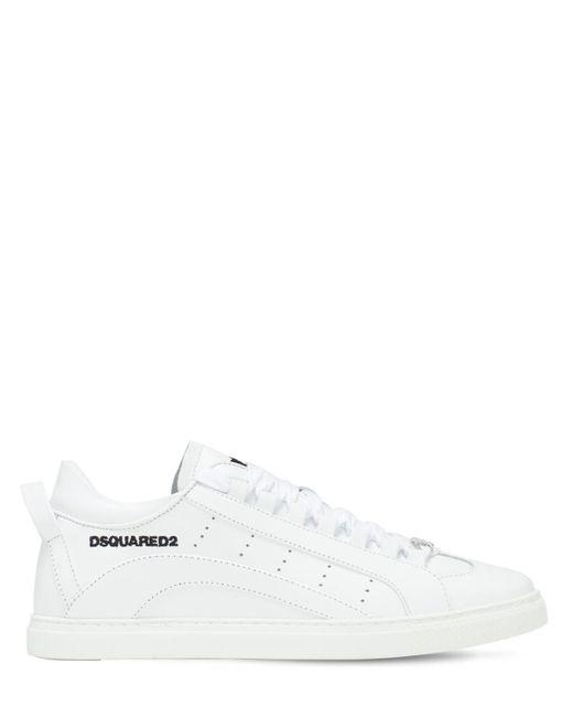 Кожаные Кроссовки DSquared² для него, цвет: White