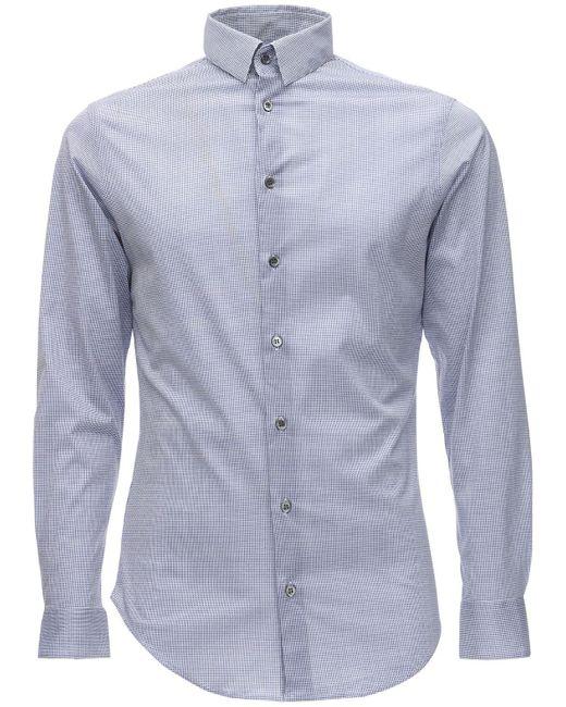 Рубашка Из Хлопкового Джерси Giorgio Armani для него, цвет: Blue