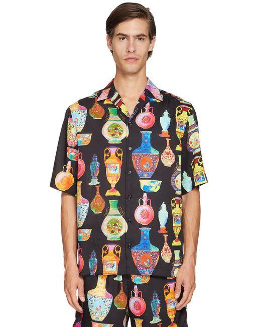 メンズ Versace ボウリングシャツ Multicolor