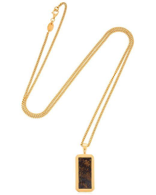 Northskull - Metallic Bronzite Pendant Necklace for Men - Lyst