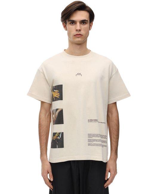 メンズ A_COLD_WALL* オーバーサイズジャージーtシャツ Natural