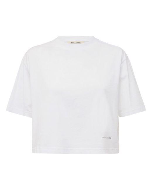 1017 ALYX 9SM クロップドコットンジャージーtシャツ White