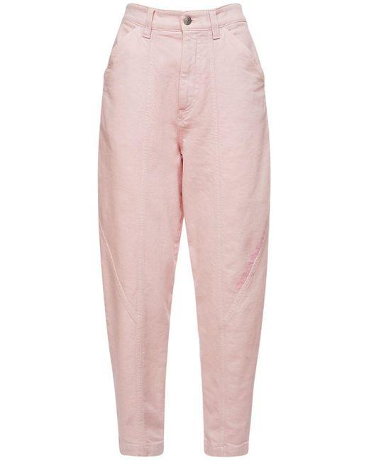 Джинсы Из Органического Хлопкового Денима Stella McCartney, цвет: Pink