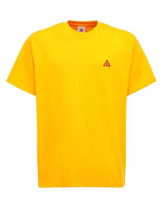 メンズ Nike Acg コットンtシャツ Yellow