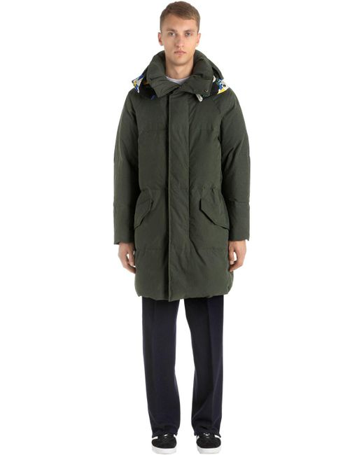 Etudes Studio | Green Hooded Cotton & Nylon Canvas Parka | Lyst