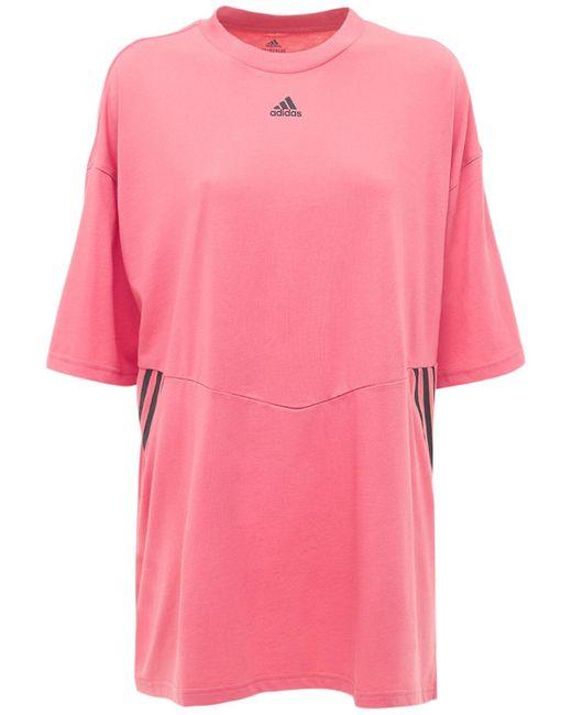 Adidas Originals オーバーサイズtシャツ Pink