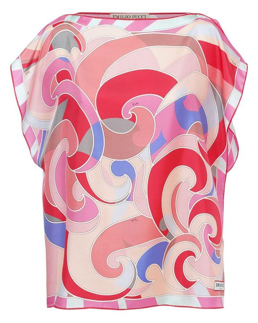 Emilio Pucci シルクツイルトップ Pink