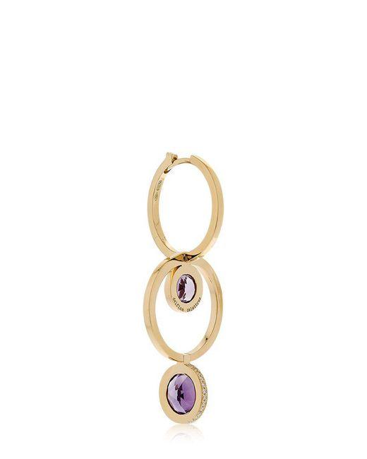 Delfina Delettrez | Metallic Seal Double Hoop Gold Mono Earring | Lyst