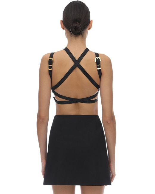 Топ Из Шелкового Атласа Versace, цвет: Black