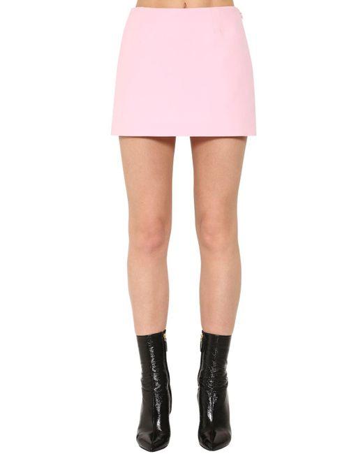 Короткая Юбка Из Крепа Valentino, цвет: Pink