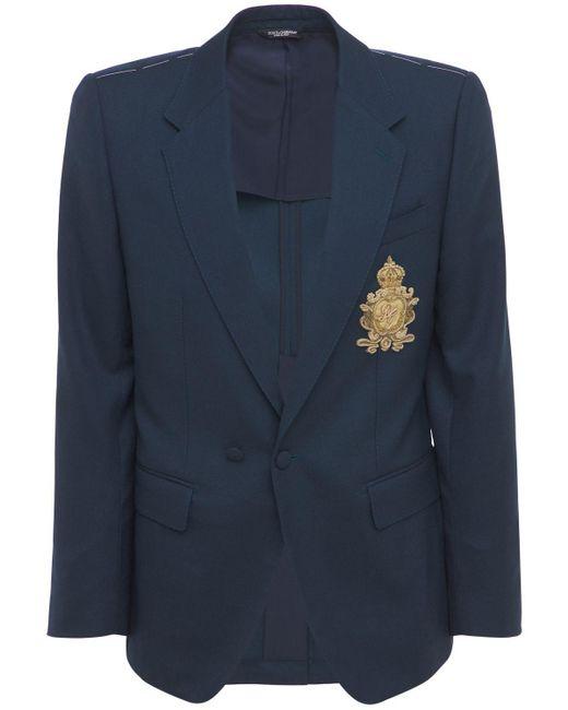 Шерстяной Пиджак Dolce & Gabbana для него, цвет: Blue