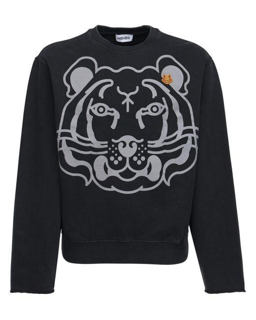 メンズ KENZO Tiger コットンスウェットシャツ Black