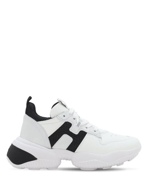 Кроссовки Из Кожи И Сетки Меш Hogan, цвет: White
