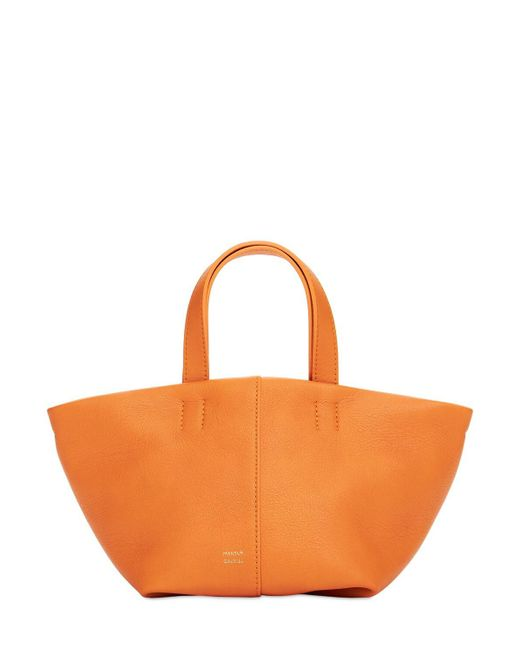 Mansur Gavriel Mini Tulipano レザートップハンドルバッグ Orange