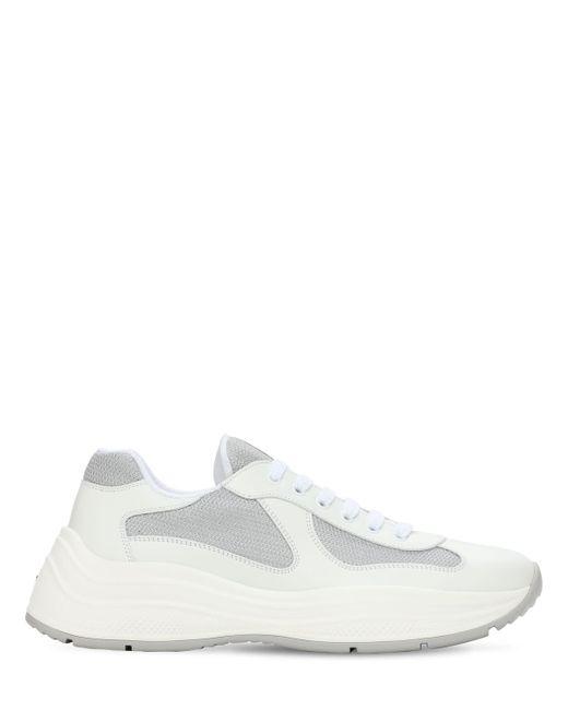 """Prada Sneakers Aus Mesh Und Leder """"america's Cup Xl"""" in White für Herren"""