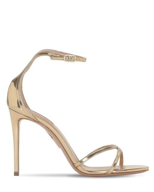 Aquazzura Metallic Mirrored Strappy Sandals