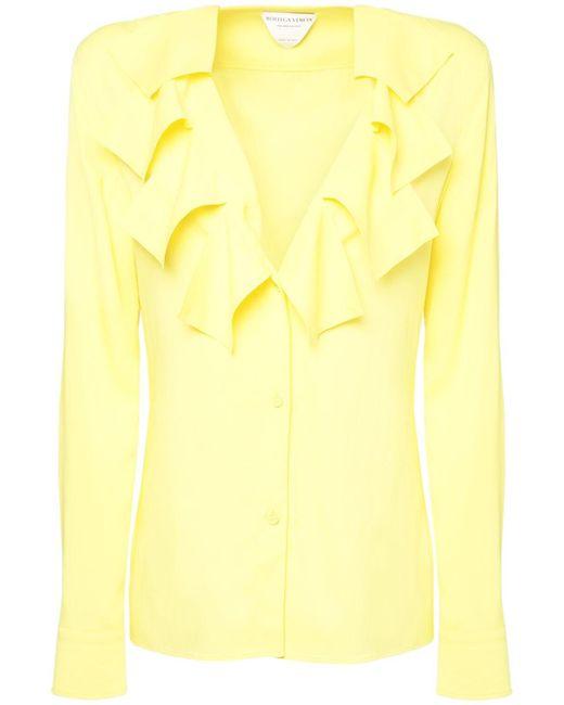 Рубашка С V-образным Вырезом Bottega Veneta, цвет: Yellow