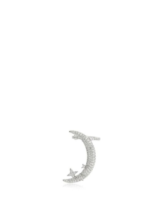 Apm Monaco - Metallic Silver Half Moon Clip Mono Earring - Lyst